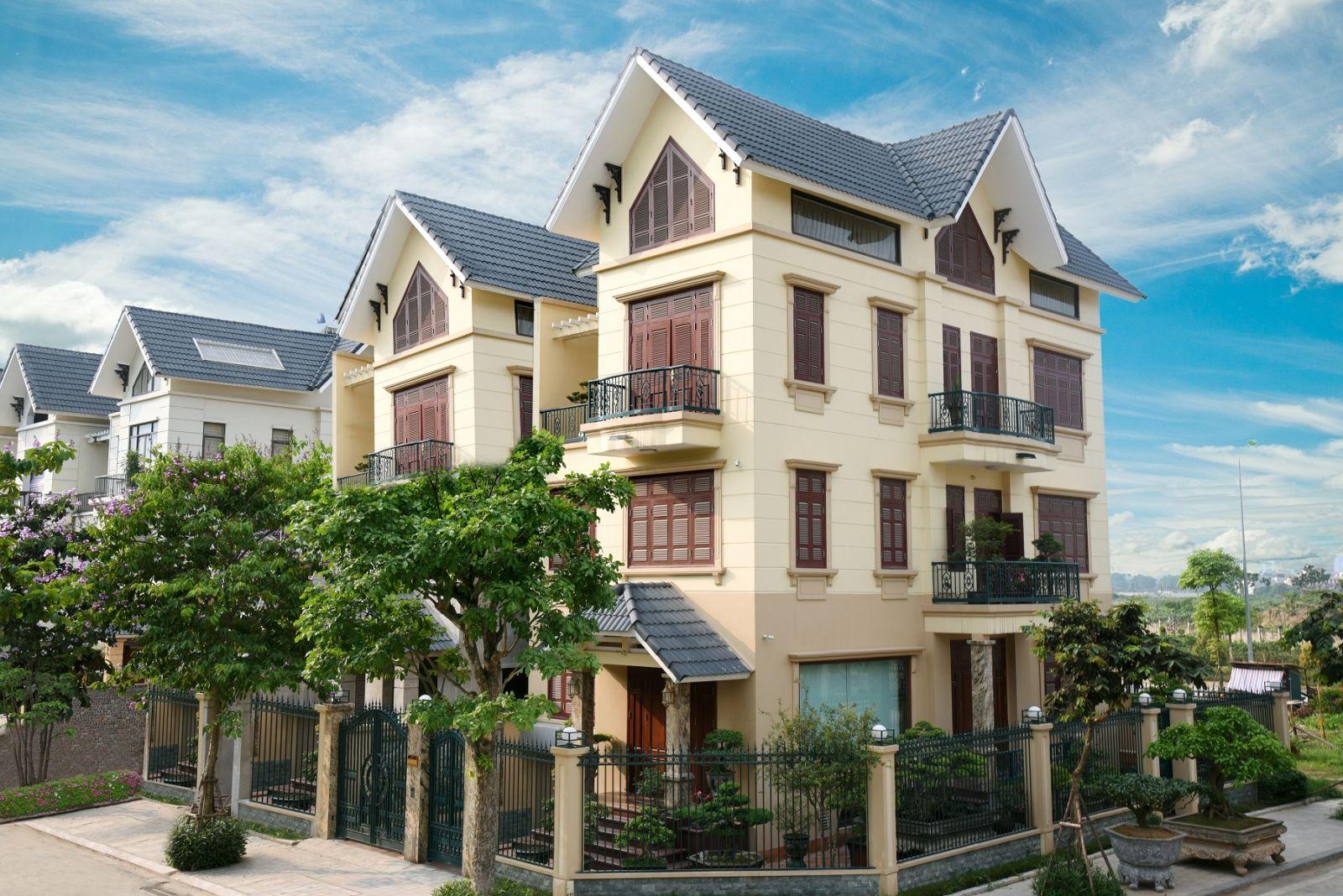 Biệt thự An Khang có mật độ xây dựng thấp khoảng 30%