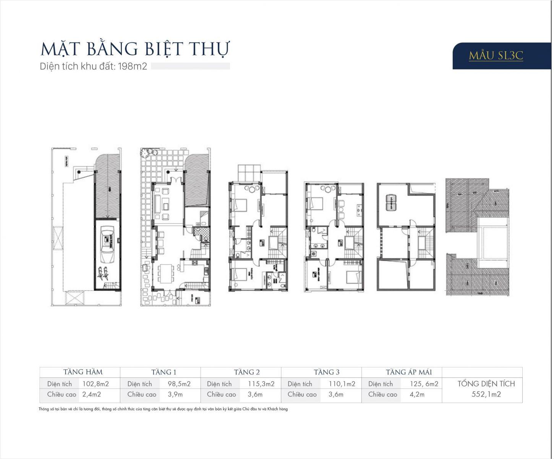 Thiết kế mẫu SL3C Biệt thự An Khang Villas Dương Nội