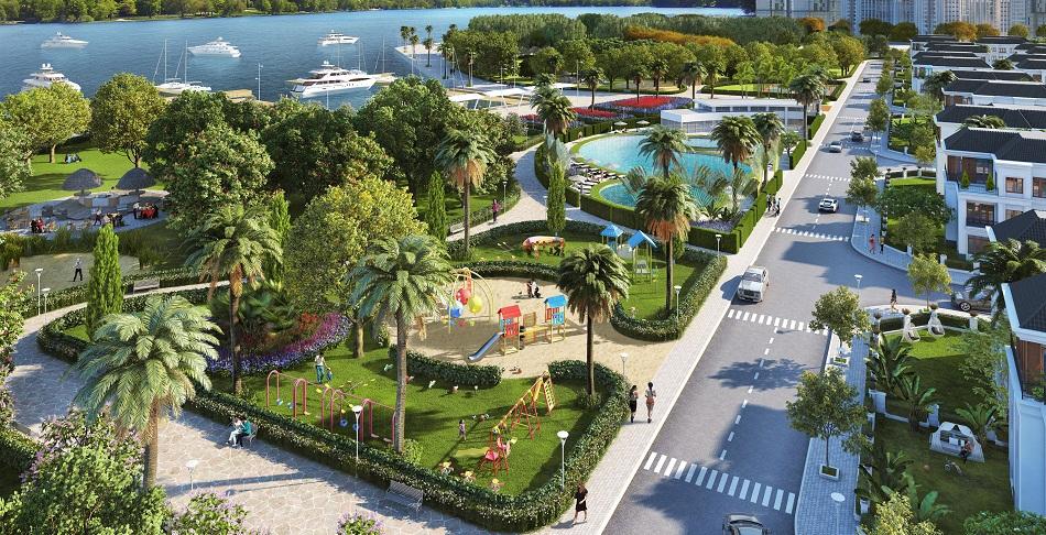 Biệt thự An Vượng Villa ven hồ mặt đường Lê Quang Đạo kéo dài