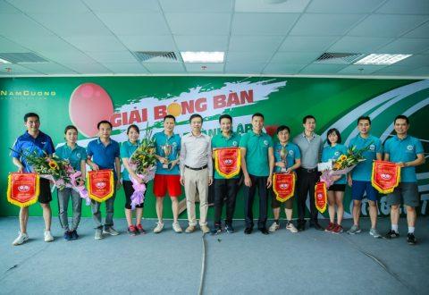 Đại diện Ban Lãnh đạo Tập đoàn trao giải cho các đội đạt giải