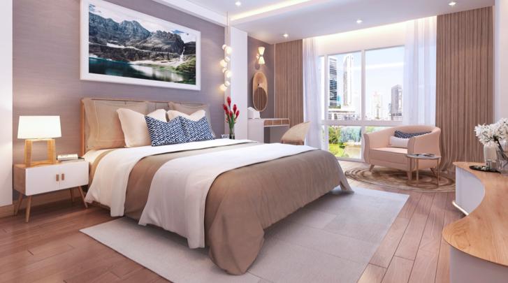 Nội thất hiện đại, thiết kế tối ưu và tận dụng tối đa ánh sáng và gió tự nhiên