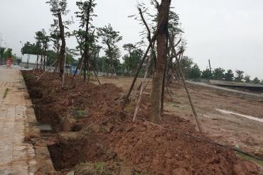 Tiến độ xây dựng công viên Thiên văn học và hồ điều hoà Bách Hợp Thuỷ tại Dương Nội
