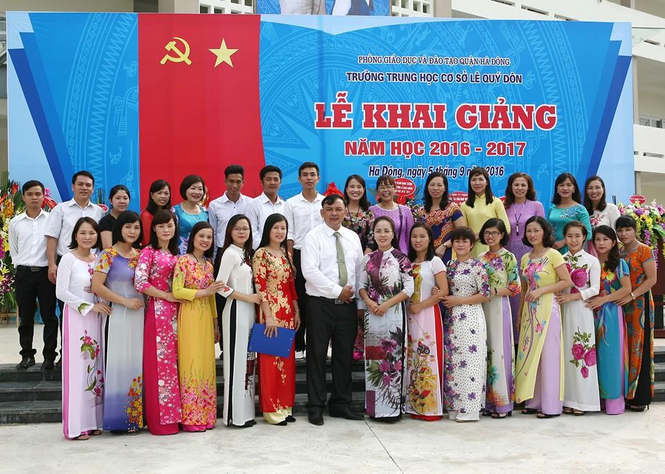 Trường THCS Lê Quý Đôn Dương Nội Hà Đông khai giảng năm học mới 2016-2017