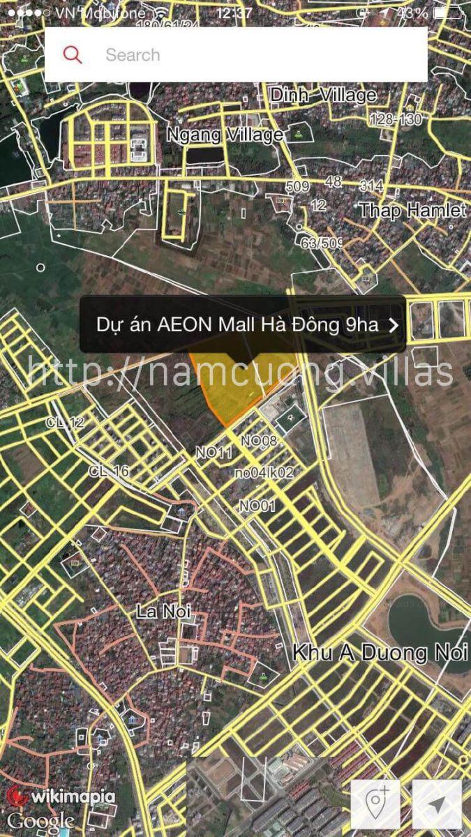 Vị trí trung tâm thương mại AEON Mall Hà Đông
